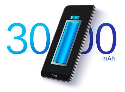 Baterai 3000 mAh yang sangat besar dan generasi kelima software baterai pintar dengan teknologi hemat energi berarti Honor 7A dapat bertahan seharian, bahkan untuk pengguna berat. Baterai berdensitas tinggi mempertahankan lebih dari 80% kapasitasnya bahkan setelah 800 pengisian penuh (hihonor.com)
