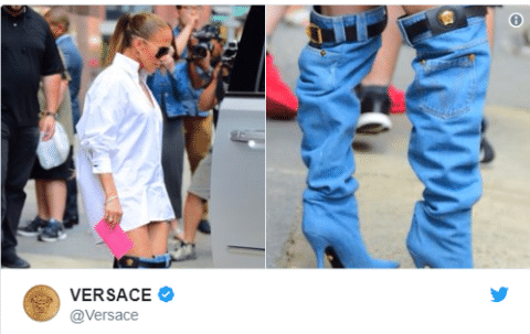 Jennifer Lopez's Denim Boots turned into Funny Memes
