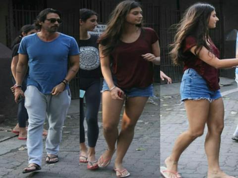 अर्जुन रामपाल अपनी बेटी माहिका के साथ सड़क पर ऐसे दिखें, आप भी देखिये