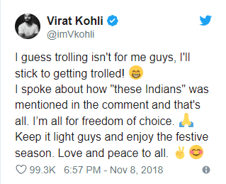 Virat Kohli Replies To His Trolls On Social Media