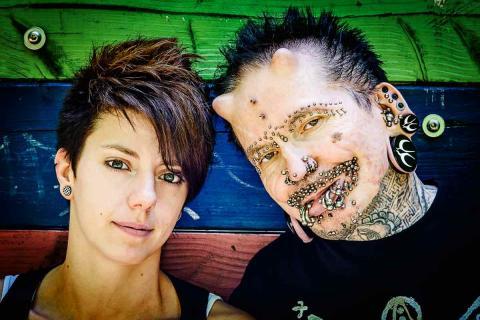 Meet world's most pierced man