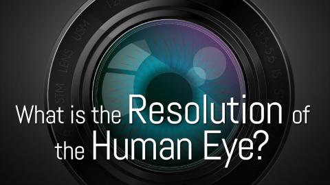What is the Resolution of the Human Eye?