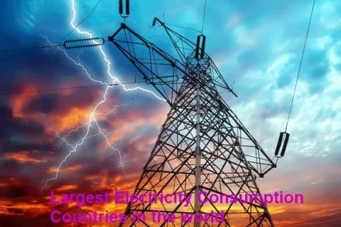 Largest electricity consumption countries in the world