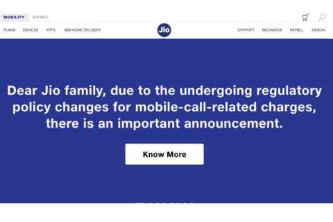 Jio Announcement: Outgoing Calls will be Charged from Oct 10