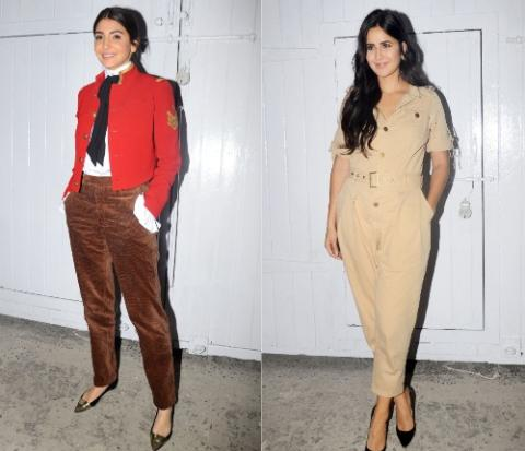 Anushka Sharma done military style, Katrina Kaif goes Khaki for Zero promotions
