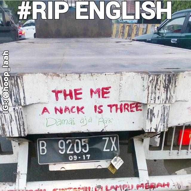 10 Foto Kesalahan Penulisan Bahasa Inggris Pada Kendaraan Ini Bikin Ketawa Meringis