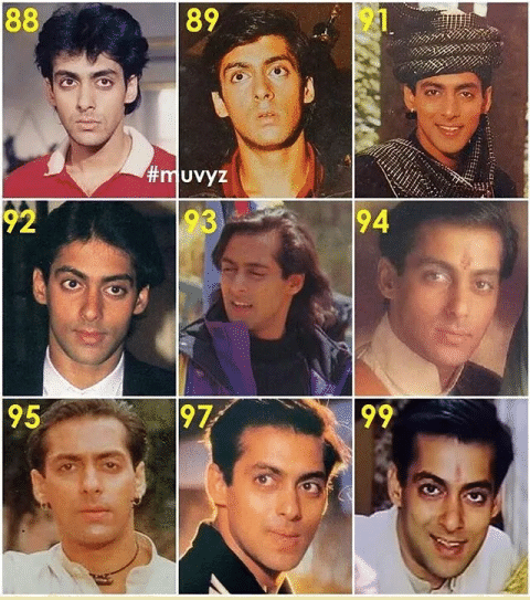 Changing faces of Salman Khan,  Shah Rukh Khan, Hrithik Roshan and Anil Kapoor.