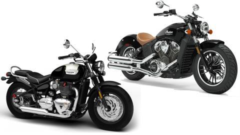 Triumph Bonneville Speedmaster vs Indian Scout V-Twin Comparison: Price, Specs & Features
