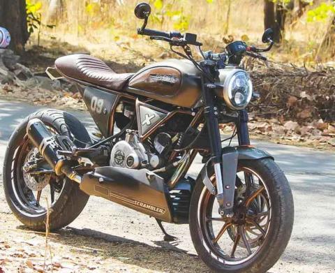 This Bajaj Pulsar 180 Is Modified To Look Like Ducati Scrambler