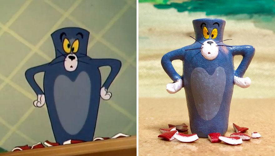 Adegan Kocak Tom dan Jerry yang Dijadikan Karya Seni oleh Seniman Jepang