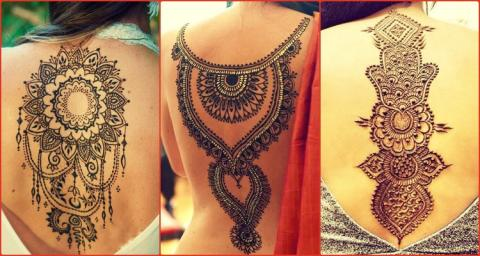 New and Trending Neck and Back Mehndi Designs for Girls