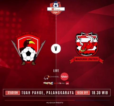 Kalteng 1-4 Madura United, Barito 0-3 Padang, Ini Klasemen Terbaru Liga 1 Pekan 31